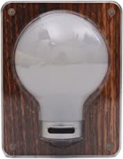 Store2508 Novelty PVC Wireless Battery Operated Portable Bright LED Switch Light Bulb (Dark Wood)