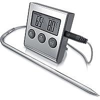 Arendo - Thermomètre de viande numérique, Thermomètre de cuisine avec sonde en acier inoxydable, Température -26° à 250…