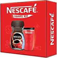 NESCAFÉ Travel Kit (Red) - NESCAFÉ Classic Coffee, 200g with Travel Mug (Valentines Day Gift Pack Limited Edition)