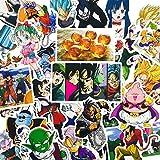 36Pcs Dragon Ball Z Aufkleber Cartoon Anime Super Saiyan Goku für Auto Laptop Skateboard mit Fahrrad-Aufkleber-Aufkleber, wasserdicht