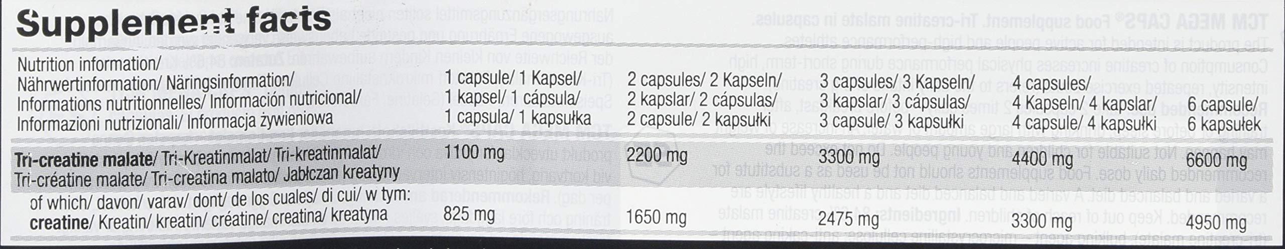 Olimp Labs TCM Capsules, 1100 mg, Pack of 400 Mega Capsules