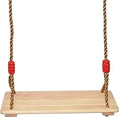COMINGFIT Wooden Hanging Swing Seat Yard Hammock Indoor Outdoor Exercise Use