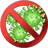 1a Style Sticker Corona Virus Corona Free Zone Auto