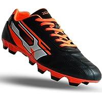 ICHNOS Downforce FG Firm Ground Moulded studs football boots Black/Orange/White