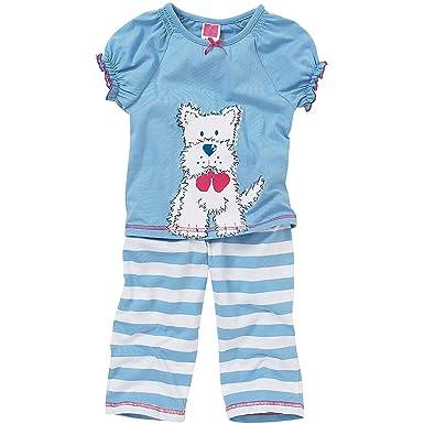 Cozy n Dozy Girls Cute Westie Puppy Dog Long Pyjamas: Amazon.co.uk ...