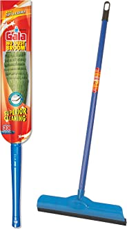 Gala No Dust Floor Broom – Synthetically enginereed bristles – Blue & Double Lip Wiper (Multicolour) Combo