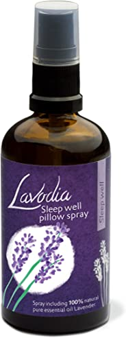 Lavender Pillow Spray Sleep Well by Lavodia – Lavender Mist Made from 100% Pure Natural Lavender Essential Oil - 50ml