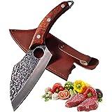 Couteau de cuisine professionnel Promithi, couteau couperet japonais, couteau à hacher, couteau de poche utilitaire, couteau