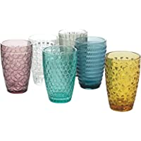 Villa d'Este Home Tivoli Geometrie Set 6 bicchieri bibita in vetro 380 ml