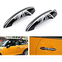 KSTE 4pcs Carbon Fiber Inner Interior Door Handle Trim Cover Compatible with Mercedes W204 2005-2012
