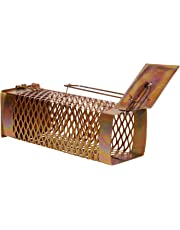 KRIWIN Iron Rodent Trap/Cage (D) to Capture Live Rat No Kill