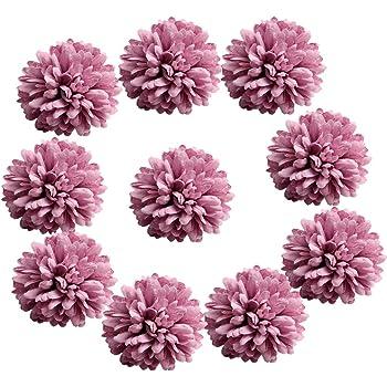 Amazon De Homyl 10er Set Blumen Kopfe Kunstblumen Bluten Tischdeko