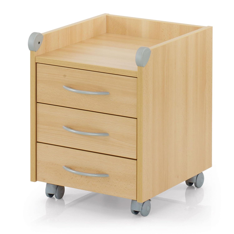 Rollcontainer holz buche  Kettler Rollcontainer aus Holz – Schreibtisch Rollcontainer mit 3 ...