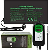 RIOGOO 24 * 52cm Tapis Chauffant pour semis et contrôleur de Thermostat 68-108 ° F contrôleur de Thermostat numérique IP68 ét
