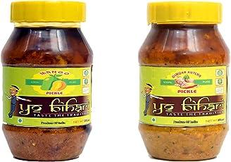 Yo Bihari Combo Mango and Ginger Kutcha Pickle (Pack of 2) 500 Grams