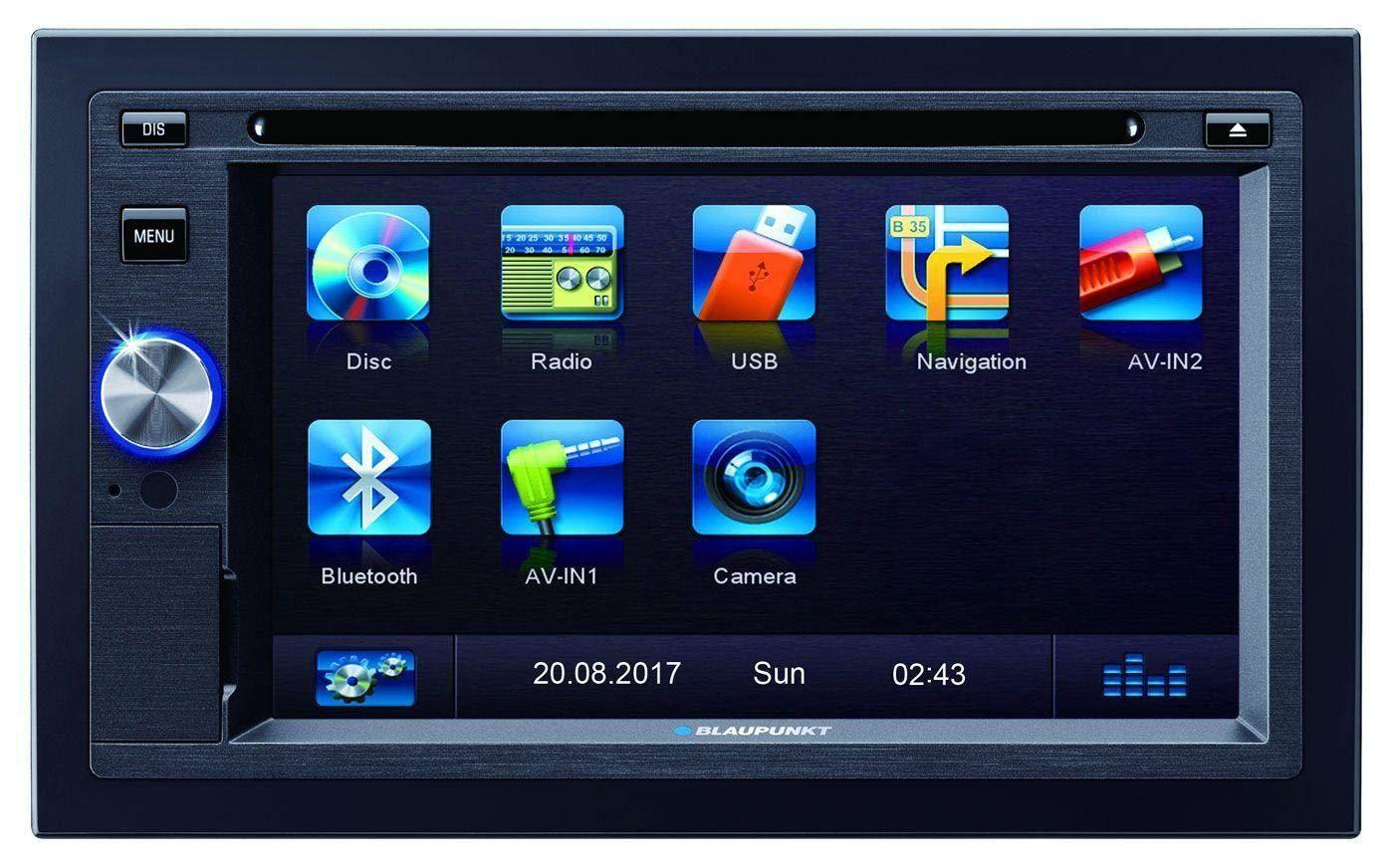 Blaupunkt-Las-Vegas-570-Autoradio-2DIN-Bluetooth-Freisprechen-Audio-DVD-CD-USB-SD-AUX-10-Band-EQ-Anschluss-Lenkradfernbedienung-IR-Fernbedienung-4x-45W
