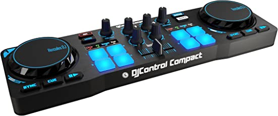 Hercules DJ Compact 4780843 Controller (Black and Blue)