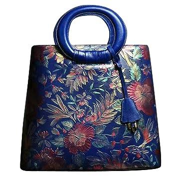 Leathario Besace en cuir véritable la première couche sac porte épaule sacoche portable sac bandoulière sac à main pour femmes sac peint à la main pour femmes AyubsM8h