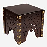 Vudy Wooden Handcrafted Wooden Stools | Table | for Living Room | Office | Décor-Brown (Mohagany)