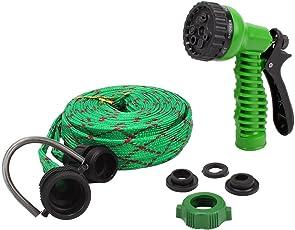 HOKIPO® 7 Pattern High Pressure Garden Nozzle Water Spray Gun with 10 Metre Hose