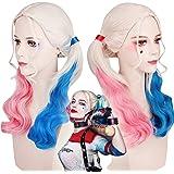 thematys Harley Quinn Parrucca - Accessori per Il Costume da Donna - Perfetto per Il Carnevale e Cosplay - Ideale da Abbinare