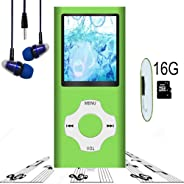 Mp3 Player, Hotechs Hi-Fi Sound, with FM Radio, Recording Function Build-in Speaker Expandable Up to 64GB with Noise Isolatio