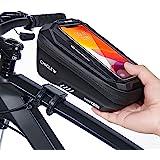 CHICLEW Fahrrad Rahmentasche Wasserdicht, Fahrrad Handytasche Lenkertasche Handyhalterung Oberrohrtasche mit TPU Touchschirm