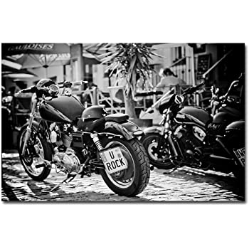 poster harley davidson motorrad u rock. Black Bedroom Furniture Sets. Home Design Ideas