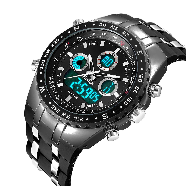 Reloj analógico digital para hombre Reloj deportivo para hombre Gran ... c919b45ee699
