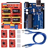 REES52 CNC Shield Expansion Board V3.0 +UNO R3 Board + A4988 Stepper Motor Driver With Heatsink for Arduino Kits K75