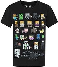 Minecraft Jungen T-Shirt Kurzarm