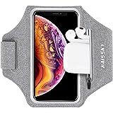 Brazalete Deportivo para Correr con Bolsa de Airpods, Brazalete Móvil Deportivo Ajustable para iPhone 12/12Pro/11/11 Pro/XR/X