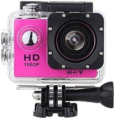 Vemont WIFI Full HD Action Kamera 2,0 Zoll Bildschirm, 12MP 1080P 30m/98 Fuß Wasserdichte Sports Kamera 170°Weitwinkel mit Zubehör Kits