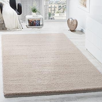 Shaggy Teppich Micro Polyester Wohnzimmer Teppiche Elegant Hochflor Hellbeige Grsse10x10 Cm Amazonde Kche Haushalt