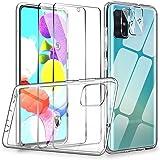 LK Case Compatibel met Samsung Galaxy A51, 2 Pack 9H gehard glas Screen Protector & 2 Camera Lens Protector, Case Vriendelijk