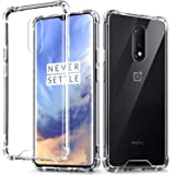Kartronics Compatible with [Pack of 2] OnePlus 7 Transparent Bumper Shock Proof Corner Soft TPU Silicone Flexible Back Case C