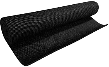 Zainmark Yoga Mat For Gym Workout And Flooring Exercise - Black 6mm Thick For Men Women With Bag Cover