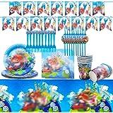 Vajilla Diseño de Super Mario Accesorio de Decoración de Fiesta de Cumpleaños Apoyo para Celebración Pancarta Platos Vasos Se