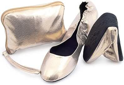 CATMOTION Scarpe Pieghevoli Borsetta, Scarpe Ballerine da Donna, Scarpe Ballerine Pieghevoli, Scarpe da Mettere in Tasca