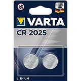 VARTA CR 2025, 6025101402, Batteria Litio a Bottone, Piatta, Specialistica, 3 Volts, Diametro 20mm, Altezza 2,5mm…