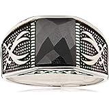 Atiq Mens Sterling Silver Fashion Ring