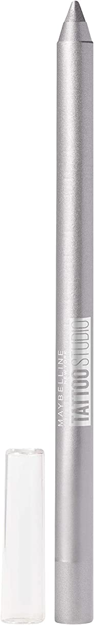 Maybelline New York Tattoo Studio Gel Liner Pencil, Sparkling Silver,
