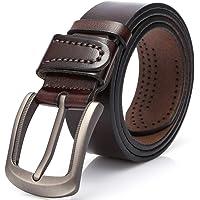 DOVAVA Cintura da Uomo, Cinghia Maschile in Pelle, Cinture per Jeans, Pantaloni Casual