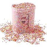 Lot de 80 000 boules en mousse arc-en-ciel décoratives Lokipa – en polystyrène, 2 mm – 3 mm, avec pot fermé avec joint en pla