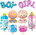 Compleanno Decorazione Boy Blue Girl Pink Set, Baby Shower Party Boy Girl Palloncino decorazione Happy Birthday Birthday Decor Boy Girl Set Palloncino