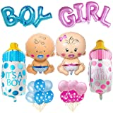 Compleanno Decorazione Boy Blue Girl Pink Set, Baby Shower Party Boy Girl Palloncino decorazione Happy Birthday Birthday Deco