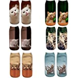 Meiping Frauen Mädchen Socken 3D Verrückte Lustige Nette Tiere Kurze Knöchel