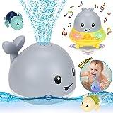 Juguetes Baño para Bebés, Juguete Rociador Agua Ballena Inducción Eléctrica 2 en 1, Juguetes Divertidos para El Baño con Músi