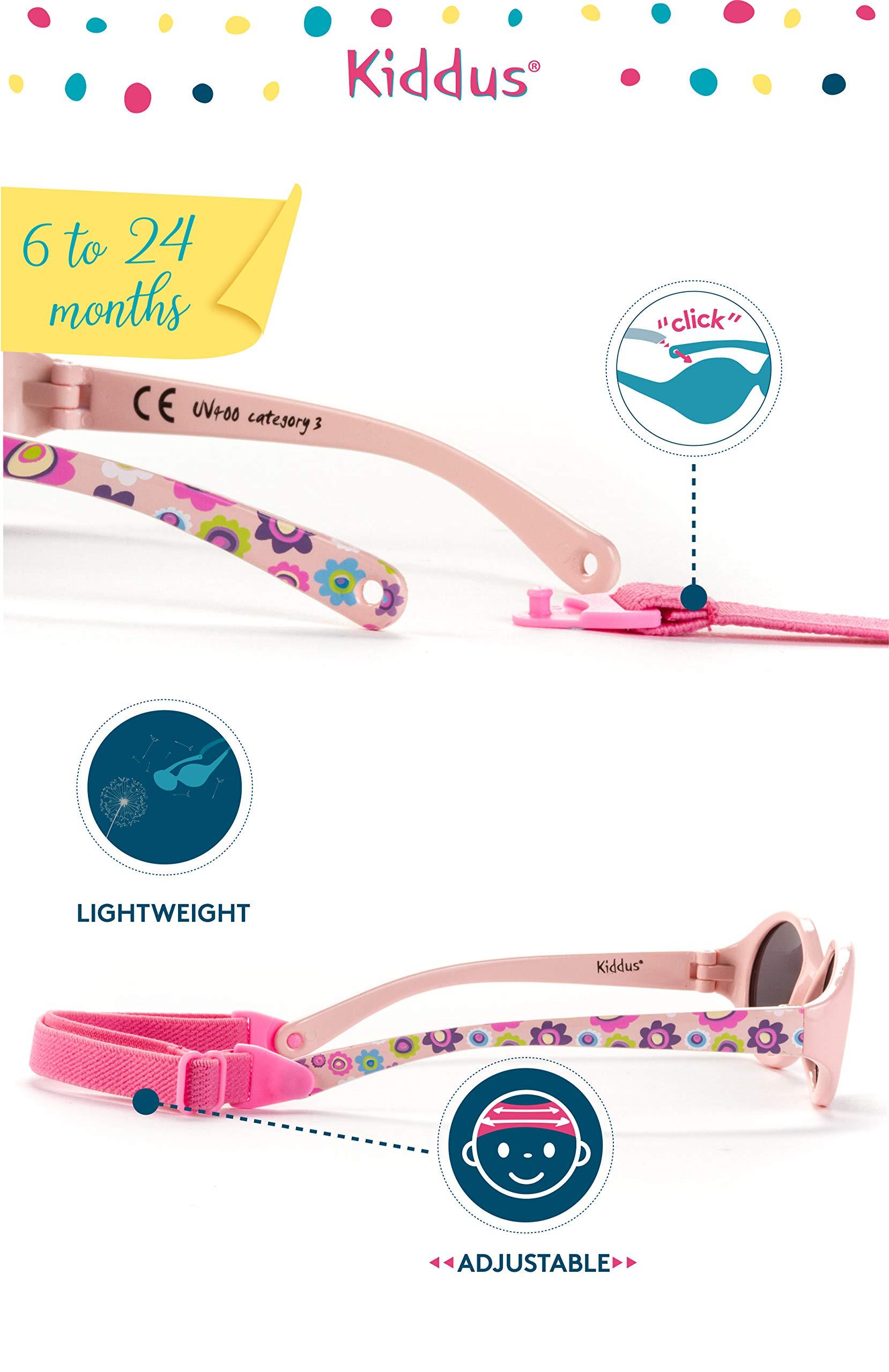 Kiddus Gafas de sol para bebe, niños y niñas. SUPER FLEXIBLES. A partir de 6 meses. UV400 100% protección rayos UVA y… 3