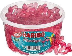 Haribo Flamingos, Gummibärchen, Weingummi, Fruchtgummi, 150 Stück, 1200 g Dose